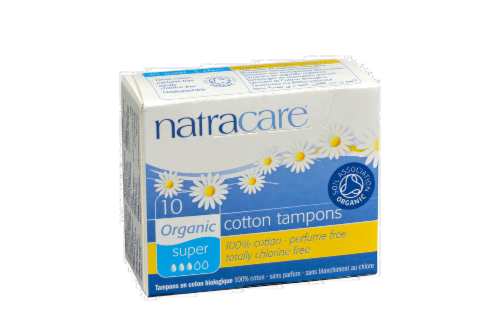 Natracare Organic Super Tampon Perspective: front