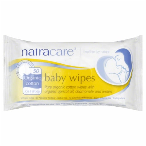NatraCare Organic Cotton Baby Wipes Perspective: front