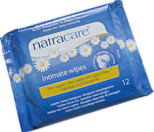 Natracare Organic Cotton Intimate Wipes Perspective: front