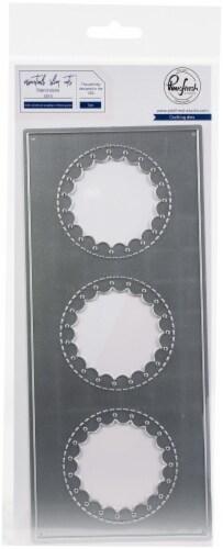 Pinkfresh Studio Essentials Die Set-Slim Stitched Scallop Circle Perspective: front