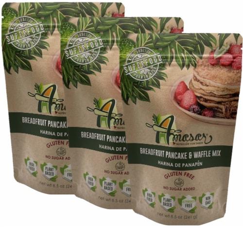 Breadfruit Flour Pancake & Waffle Mix, Gluten Free, 8.5 Ounces Perspective: front