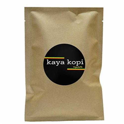 Premium Kaya Kopi Yirgacheffe  Ethiopian Arabica Specialty Roasted Ground Coffee Beans 12oz Perspective: front