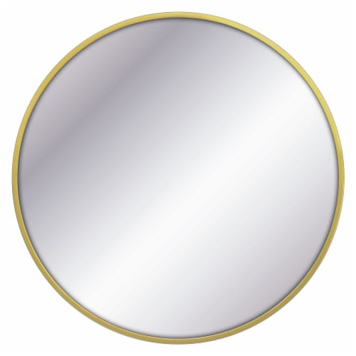 Elsa L Round Metal Mirror - Brass Perspective: front