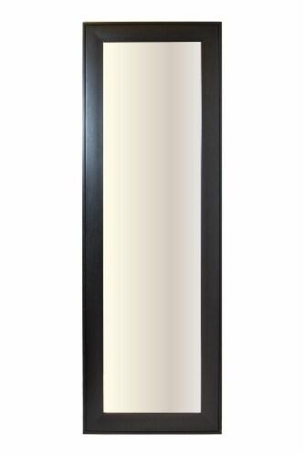 Elsa L Bedford Wood Finish Leaner Mirror - Black Perspective: front