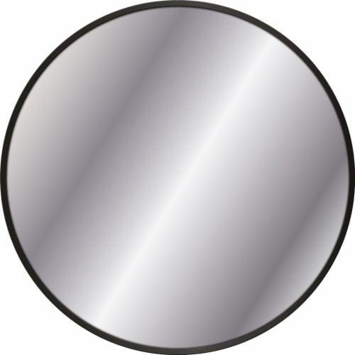 Elsa L Metal Mirror - Black Perspective: front