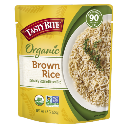 Tasty Bite Organic Brown Rice Perspective: front