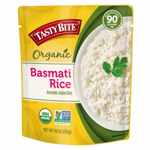 Tasty Bite Organic Basmati Rice Perspective: front