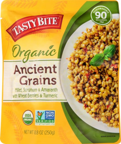 Tasty Bite Organic Ancient Grains Rice Pouch Perspective: front
