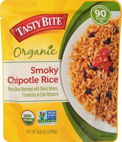 Tasty Bite Organic Smoky Chipotle Rice Perspective: front