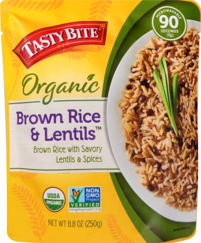 Tasty Bite Brown Rice Lentils Pouch Perspective: front