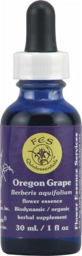 Flower Essence  FES Quintessentials™ Oregon Grape Supplement Dropper Perspective: front