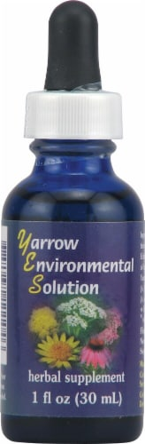 Flower Essence Yarrow Environmental Solution Herbal Supplement Perspective: front