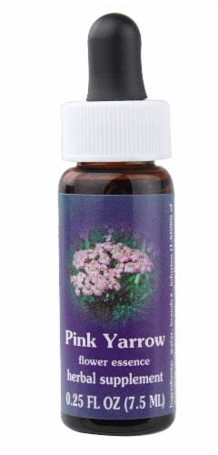 Flower Essence  Pink Yarrow Dropper Perspective: front