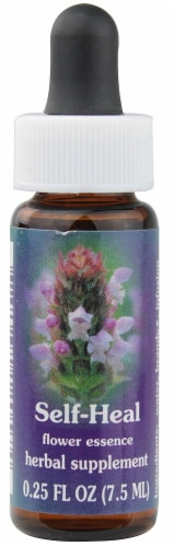 Flower Essence  FES Quintessentials™ Self-Heal Herbal Supplement Dropper Perspective: front