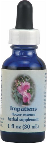 Flower Essence  Healing Herbs® Impatiens Dropper Perspective: front
