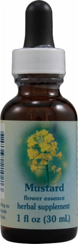 Flower Essence Mustard Herbal Supplement Perspective: front