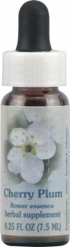 Flower Essence  Healing Herb® Cherry Plum Supplement Dropper Perspective: front