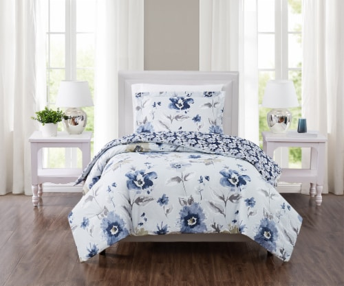 Truly Soft Cassie Comforter Set - 2 pc - Blue Perspective: front