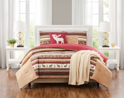 Truly Soft Lodge Stripe Comforter Set - 6 Piece Perspective: front