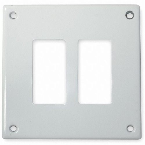 Hubbell Wiring Device-Kellems Rocker Wall Plate,2 Gang,White HAWA SWP262 Perspective: front