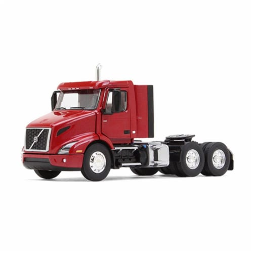 Volvo VNR 300 Day Cab Cherry Bomb Red Metallic 1/50 Diecast Model Car by First Gear Perspective: front