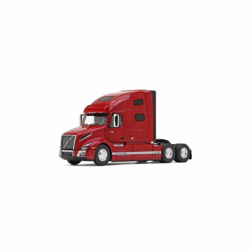 First Gear 50-3371 Volvo VNL 760 with Sleeper in Cherry Bomb Red Perspective: front