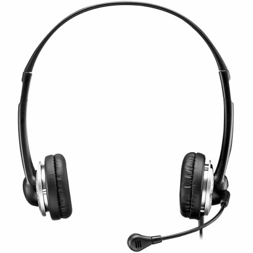 Adesso USB Adjustable Microphone Stereo Headset Perspective: front