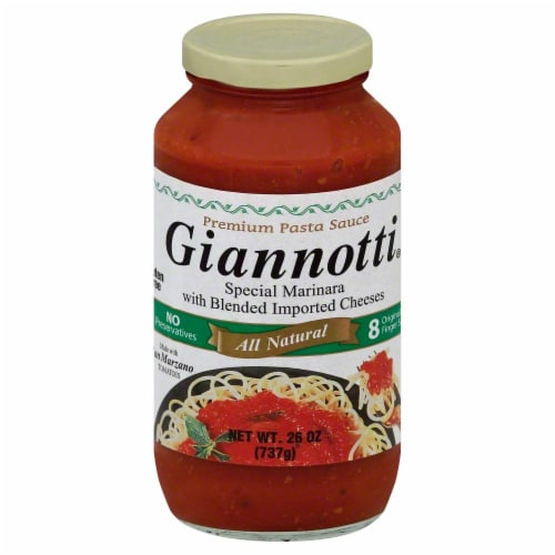 Giannotti Special Marinara With Blended Imported Cheeses Pasta Sauce Perspective: front
