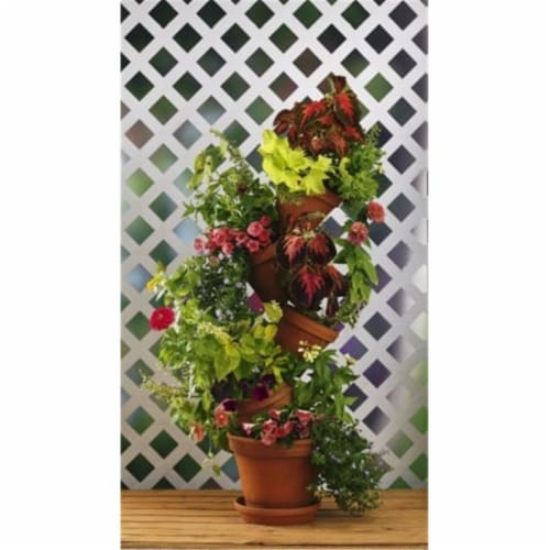 Flip Flop Flower Pot 301W Stackable Plant Stand Perspective: front