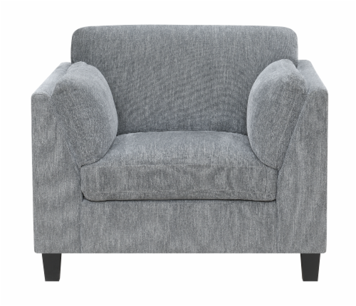 Emerald Home Furnishings Daria Chair - Gray Perspective: front