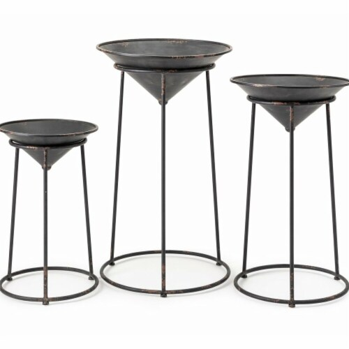 IMax 11379-3 Adette Plant Stands - Set of 3 Perspective: front