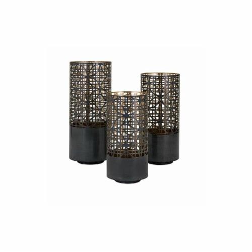 IMAX 14322-3 Modi Pierced Lanterns - Set of 3 Perspective: front