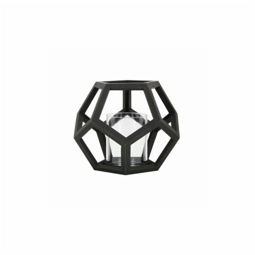 IMAX 16203 Ubon Small Wood Lantern Perspective: front