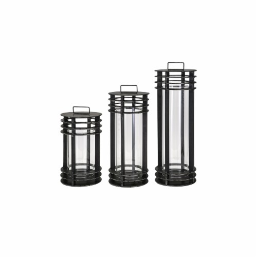 IMAX 40509-3 Electra Metal Lanterns - Set of 3 Perspective: front