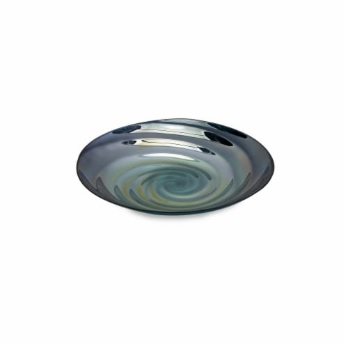 Home Decor Improvements 83100 Moody Swirl Glass Tray Perspective: front