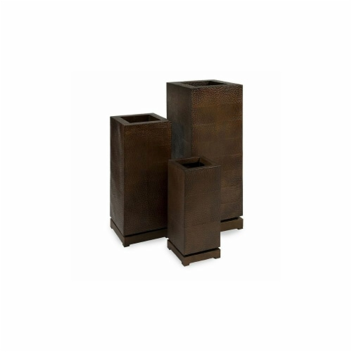 Home Decor Improvements 87067-3 CK - Tall 5th Avenue Planters - Set of 3 Perspective: front