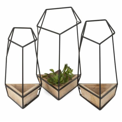 IMAX 90426-3 Felix Wall Planters - Set of 3 Perspective: front