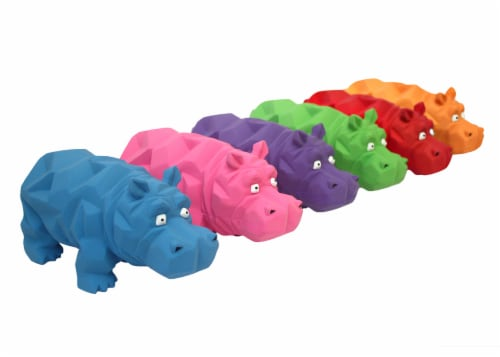 Multipet Squeakables Latex Polka Dot Pig Dog Toy Perspective: front