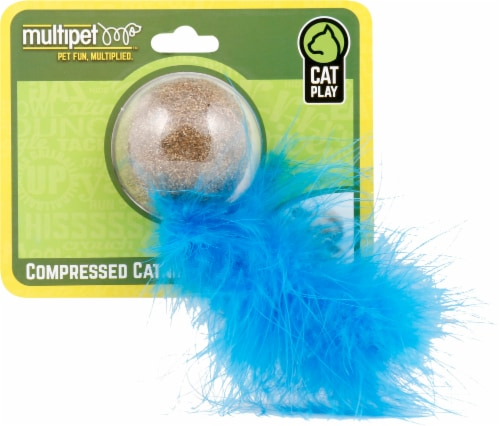 Multipet Compressed Catnip Ball Perspective: front