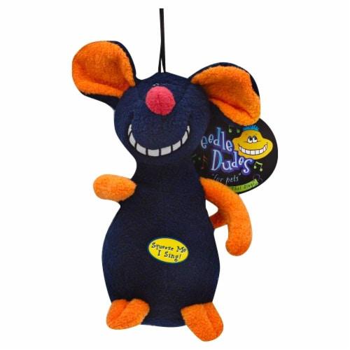 Multipet Deedle Dudes Soft Dog Toy Perspective: front