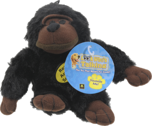 Multipet Look Who's Talking Chimp Dog Toy Perspective: front