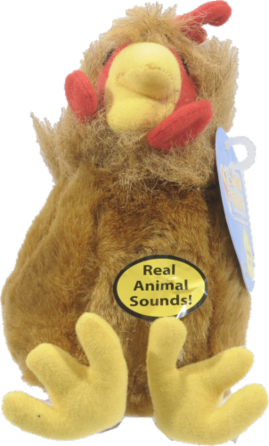 """Multipet Look Who's Talking 6"""" Rooster Toy Perspective: front"""
