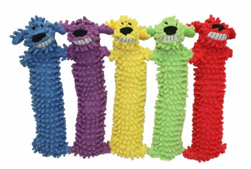 Multipet Loofa Floppy Dog Toy Assorted Perspective: front