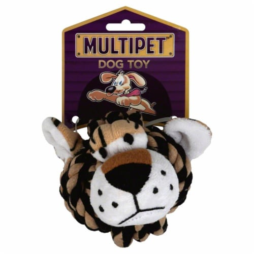 Multipet™ Rope Head Animals Dog Toy Perspective: front