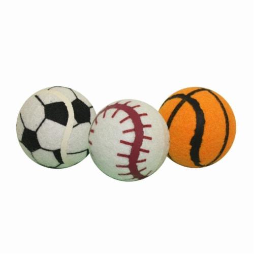 Multipet Sport Balls Dog Toy Perspective: front