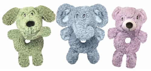 Multipet Aroma Fleece Ring-Body Dog Toy - Assorted Perspective: front