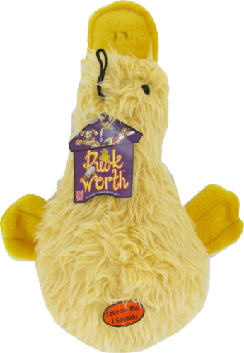 Multipet Duckworth Yellow Duck Dog Toy Perspective: front