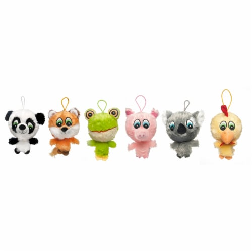 Multipet Knobby Noggins Assorted Plush Dog Toy Perspective: front