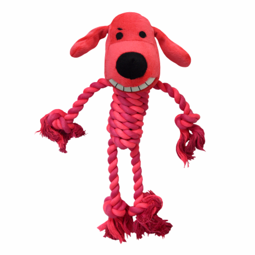 Multipet Rope Body Loofa Dog Toy - Assorted Perspective: front