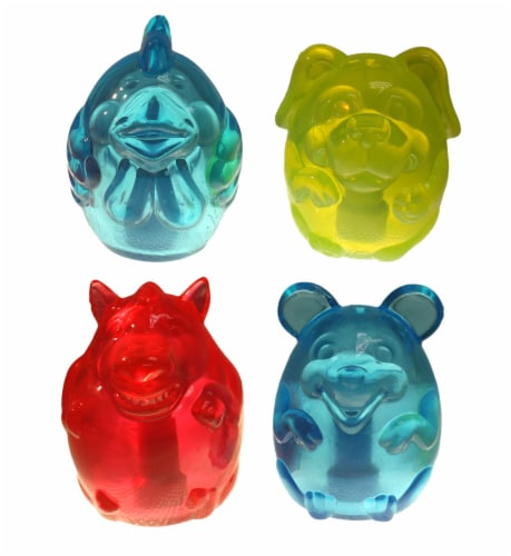 Multipet Assorted Doglucent Squeaky Animals Perspective: front
